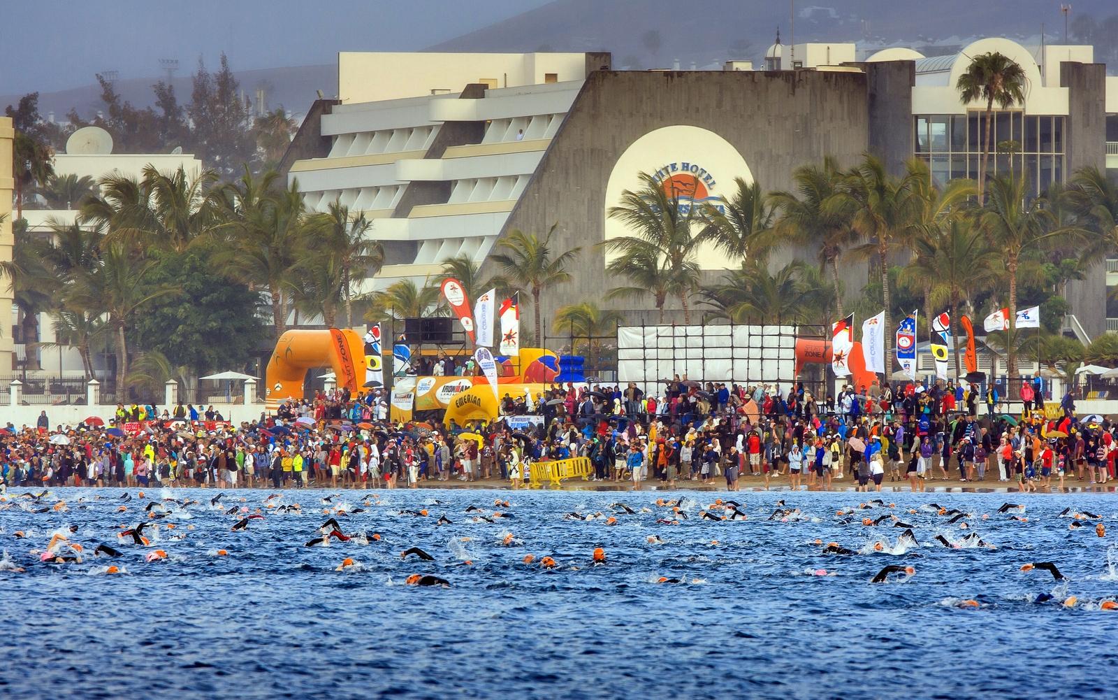 Ironman Lanzarote. Prueba de natación.