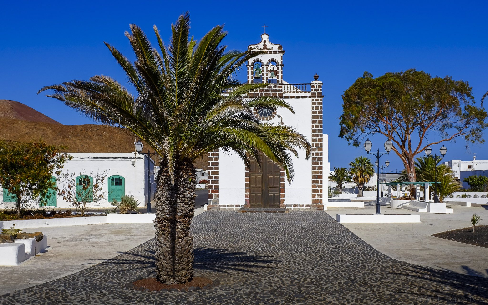 Foto de Ramón Pérez Niz, la iglesia de Guatiza, Cristo de las Aguas