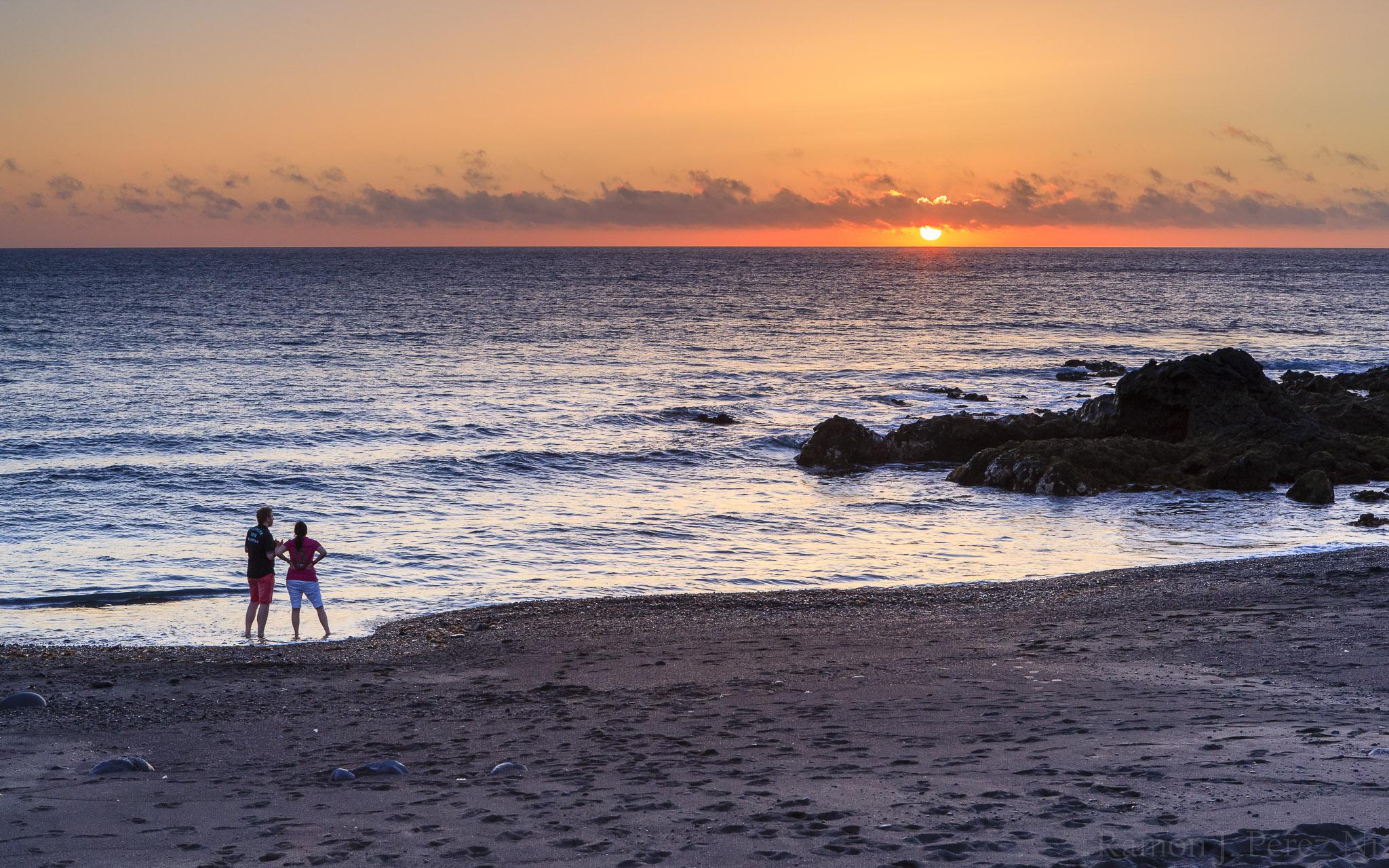 Foto de Ramón Pérez Niz, puesta de sol
