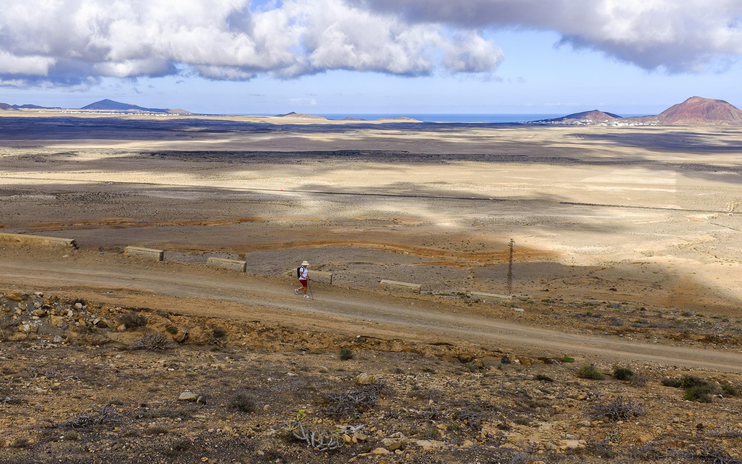 Foto de Ramón Pérez Niz, camino a Famara