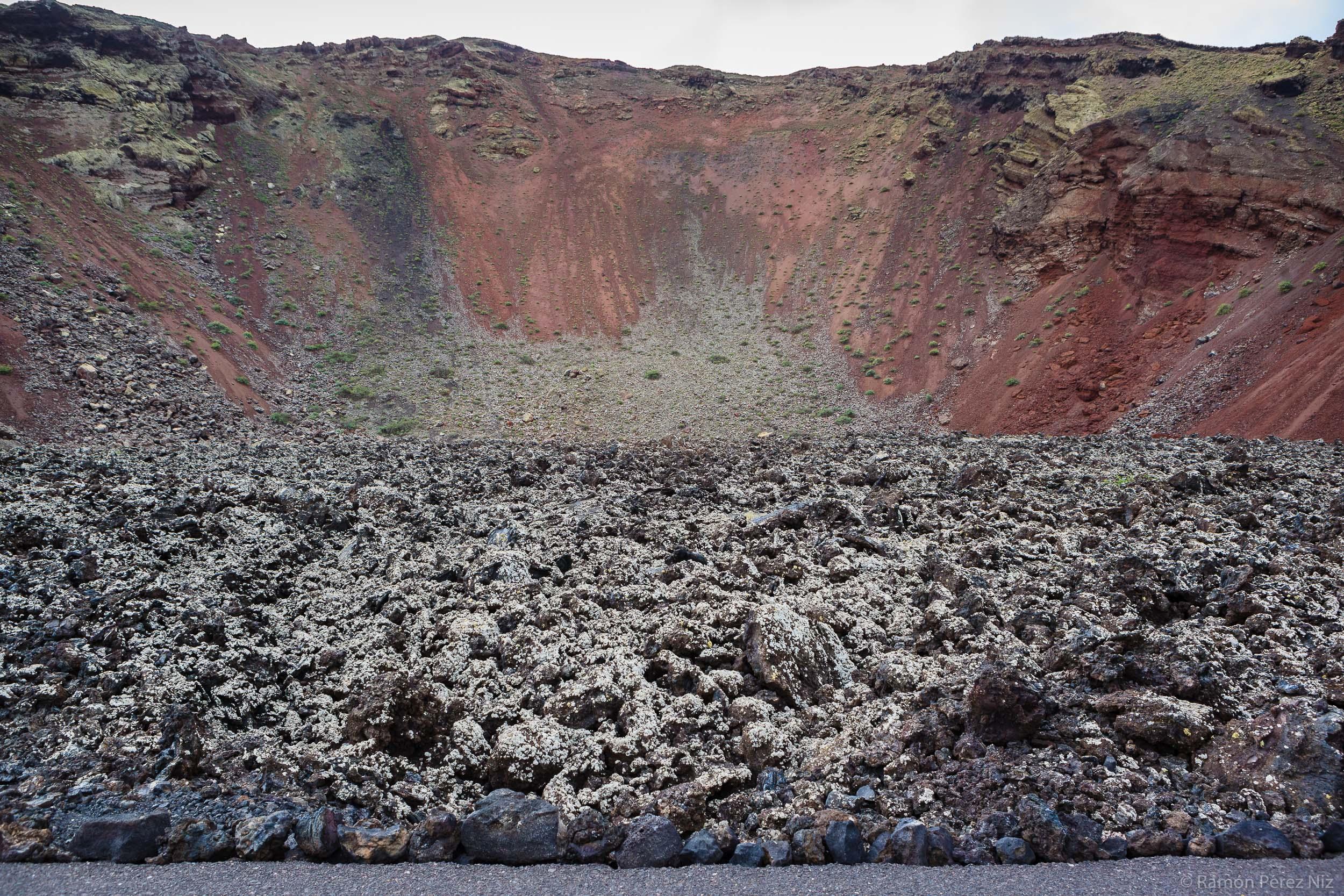 Foto de Ramón Pérez Niz, el primer volcán