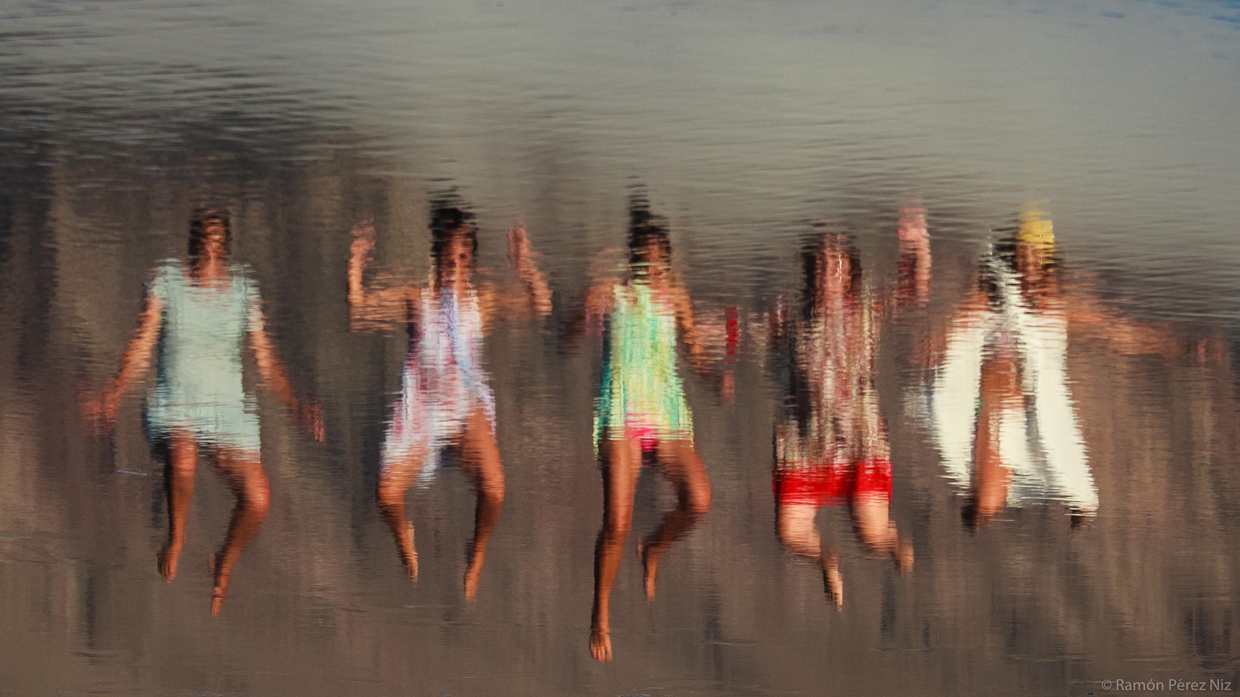 Foto de Ramón Pérez Niz en la playa de Famara