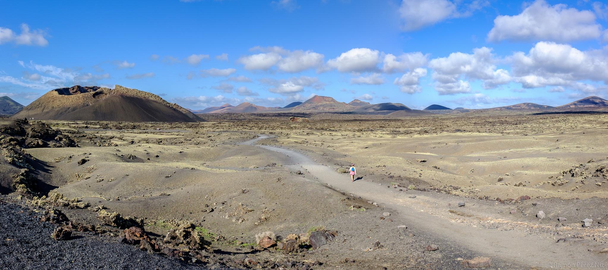 Foto de Ramón Pérez Niz en el Volcán de los Cuervos