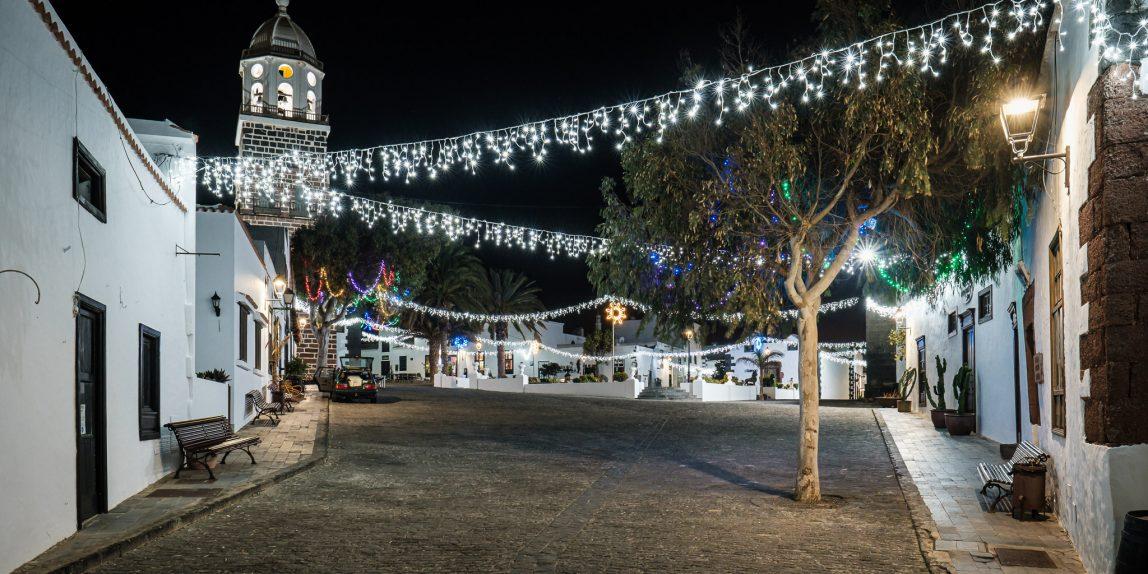 La Villa de Teguise en Navidad. Foto de Ramón Pérez Niz